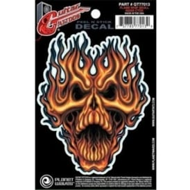 Planet Waves Guitar Tattoo Flame Whip Skull
