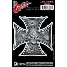 Planet Waves Guitar Tattoo Grey Iron Cross