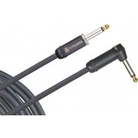 Planet Waves American Stage 10ft Instrument Cable Straight to Angled PW-AMSGRA-10