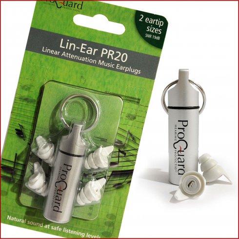 Pro-Guard Ear Protec Pro-Guard Linear Attenuation PR20 Earplugs for Musicians