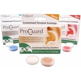 ProGuard 'Make Your Own' Earplugs - Red Colour Ear Protection