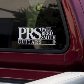 PRS Black Logo Window Decal