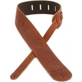 PRS Leather Birds Guitar Strap Brown ACC-3112