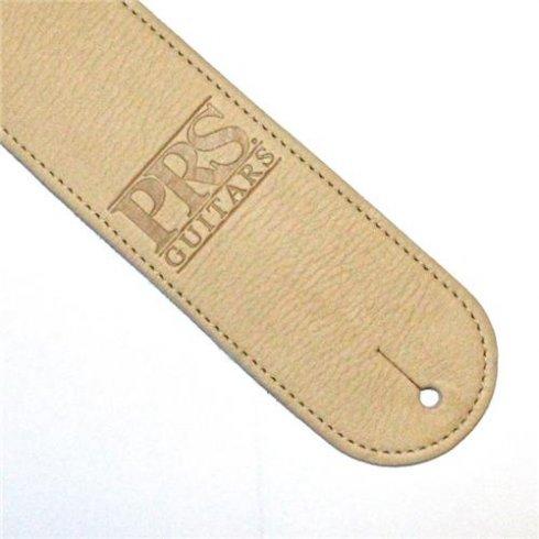 PRS Leather Logo Cream Strap