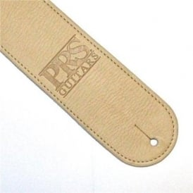 PRS Leather Logo Cream Strap