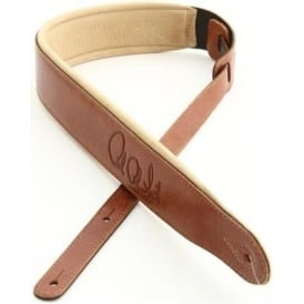 PRS Signature Leather Strap - Brown with Tan Backing