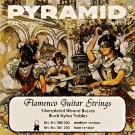 Pyramid Flamenco Nylon Hard Tension Guitar Strings