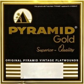 Pyramid Gold 12-String Chrome Nickel Flatwound 10-46.5 Guitar Strings