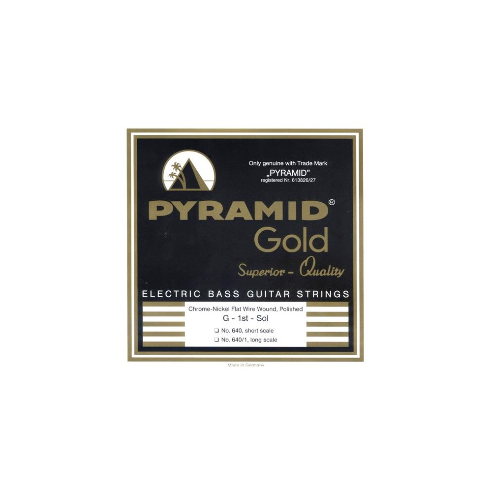 pyramid gold 4 string chrome flatwound nickel long scale 50 110 bass strings. Black Bedroom Furniture Sets. Home Design Ideas