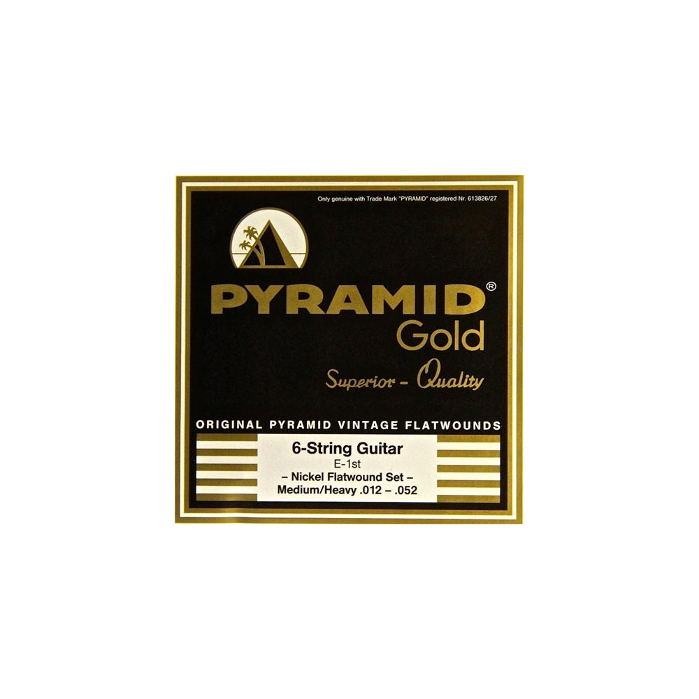 pyramid gold flatwound 12 52 guitar strings. Black Bedroom Furniture Sets. Home Design Ideas