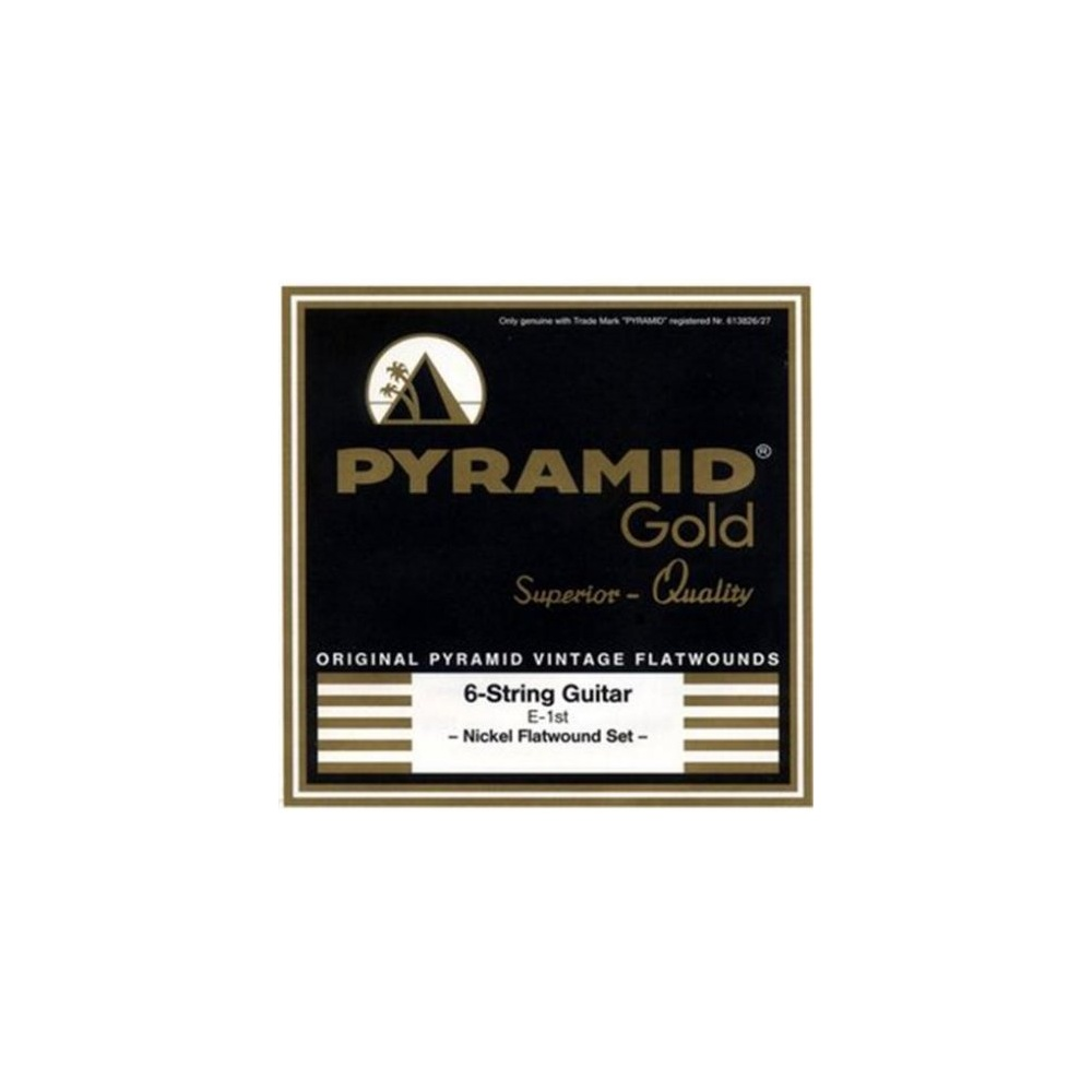 pyramid gold nickel flatwound guitar strings 11 50 medium special. Black Bedroom Furniture Sets. Home Design Ideas