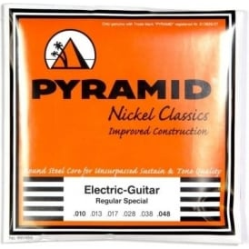 PYRAMID Nickel Classics 10-48 Electric Guitar Strings, Polished