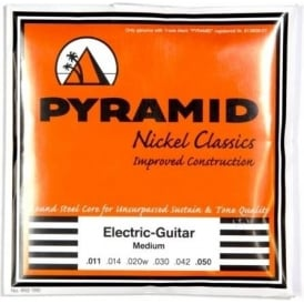 PYRAMID Nickel Classics 11-50 Electric Guitar Strings, Wound 3rd