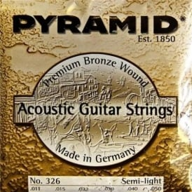 Pyramid Phosphor Bronze Hexcore 11-50 Acoustic Guitar Strings