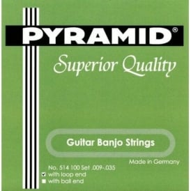 Pyramid 6-String Guitar Banjo Strings Silver Plated 09-35 Loop End 514100