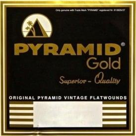 Pyramid Gold 12-String Chrome Nickel Flatwound 10-46.5 Guitar Strings