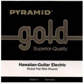 Pyramid Hawaiian Nickel Flat Wire Wound 8-String Guitar Strings 464-8