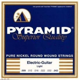Pyramid Pure Nickel Round Wound 09-42 Light Electric Guitar Strings