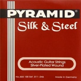 Pyramid Silk & Steel Acoustic 11-46 Guitar Strings