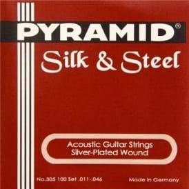 Pyramid Silk & Steel Acoustic 11-46 Guitar Strings