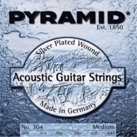 Pyramid Silver Plated Acoustic Guitar Strings 11-47 Medium Gauge