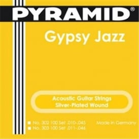 Pyramid Silver Plated Django Gypsy Jazz 10-45 Semi Light Acoustic Guitar Strings 302100