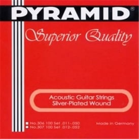 Pyramid Silver Plated Wound 11-50 Medium Heavy Acoustic Guitar Strings