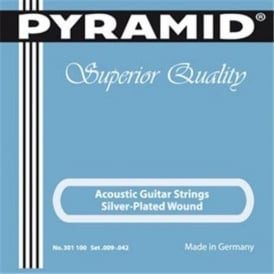 Pyramid Silver Plated Wound 9-42 Acoustic Guitar Strings