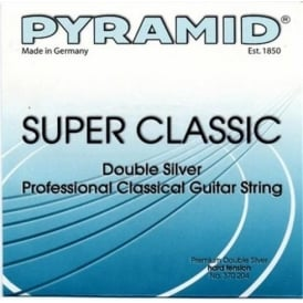 Pyramid SUPER CLASSIC Double Silver Classical Guitar Strings, Hard Tension