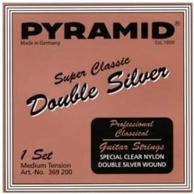 Pyramid SUPER CLASSIC Double Silver Classical Guitar Strings, Normal Tension