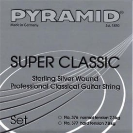 Pyramid SUPER CLASSIC Sterling Silver Classical Guitar Strings, Hard Tension