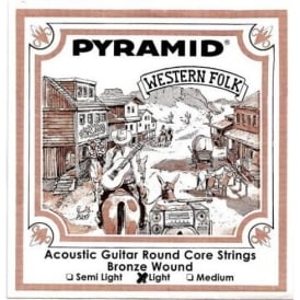 Pyramid Western Folk Round Core 12-54 Acoustic Guitar Strings