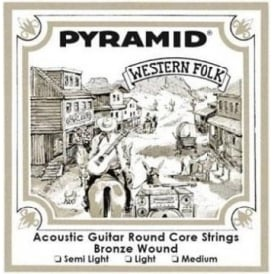 Pyramid Western Folk Round Core 13-56 Acoustic Guitar Strings