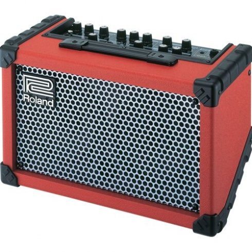 Cube Street Stereo Portable Guitar Amplifier, Red
