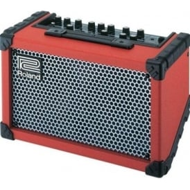 Roland Cube Street Stereo Portable Guitar Amplifier, Red
