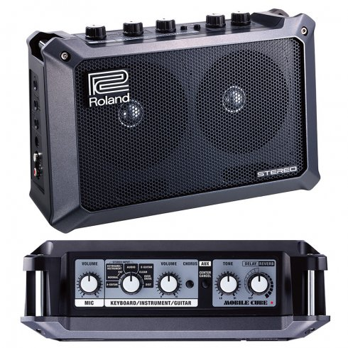 Roland Mobile Cube Battery Powered Stereo Portable Guitar Amplifier, Black