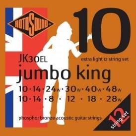 Rotosound 12-String Phosphor Bronze Acoustic Guitar Strings 10-48 Gauge JK30EL
