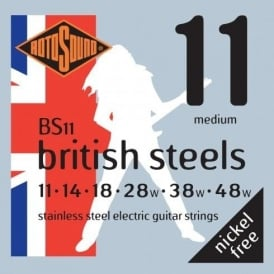 Rotosound BS11 British Steel Stainless Steel Electric Guitar Strings 11-48