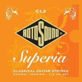 Rotosound CL2 Superia Nylon Tie On Classical Guitar Strings Normal Tension