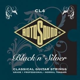 Rotosound CL4 Black & Silver Tie On Classical Guitar Strings