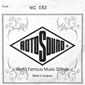 Rotosound Custom Nickel Wound Electric Guitar Single String .052