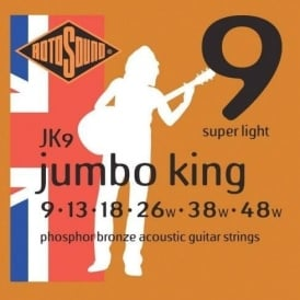 Rotosound JK09 Phosphor Bronze Acoustic Guitar Strings 9-48 Super Light Gauge
