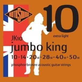 Rotosound JK10 Phosphor Bronze Acoustic Guitar Strings 10-50 Gauge