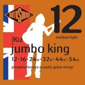 Rotosound JK12 Phosphor Bronze Acoustic Guitar Strings 12-54 Gauge