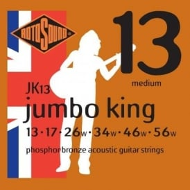Rotosound JK13 Phosphor Bronze Acoustic Guitar Strings 13-56