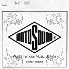 Rotosound NC022 Custom Nickel Wound Electric Guitar Single String .022