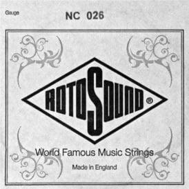 Rotosound NC026 Custom Nickel Wound Electric Guitar Single String .026