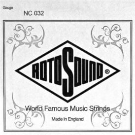 Rotosound NC032 Custom Nickel Wound Electric Guitar Single String .032
