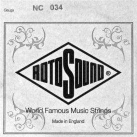Rotosound NC034 Custom Nickel Wound Electric Guitar Single String .034