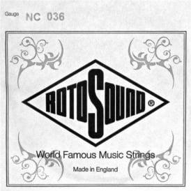 Rotosound NC036 Custom Nickel Wound Electric Guitar Single String .036